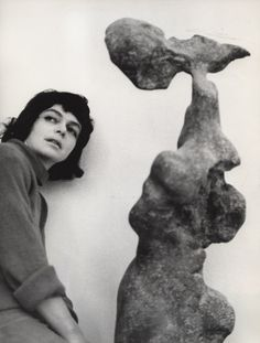 The artist with her work Naga (Naked), © ADAGP, Paris The Alina Szapocznikow Archive / Piotr Stanislawski / National Museum in Krakow. Photo by Marek Holzman. Courtesy of the Museum of Modern Art, Warsaw. Art Sculpture, Modern Sculpture, Human Sculpture, Degenerate Art, Human Art, Thing 1, Statue, Museum Of Modern Art, National Museum