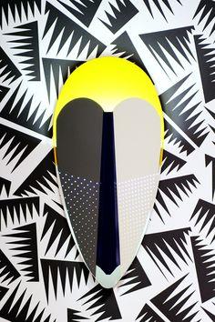 Sorcier wall lamp by Marta Bakowski for La Chance Yellow Interior, All Year Round, Design Show, African Art, Decoration, Masquerade, Surfboard, Deer, Furniture Design