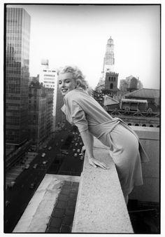 Marilyn Monroe photographed by Ed Feingersh in NYC in 1955