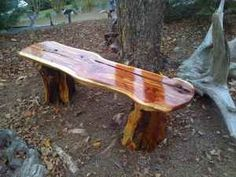 Wooden Utility Bench. Natural Cedar Wood. Natural Wood Bench. Cedar Wooden…