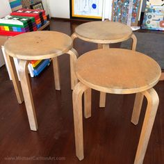 About to upcycle some abandoned Ikea stools...
