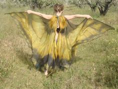 fabric wings diy for dragon halloween costume. Design concept for Death's wings- blood wedding