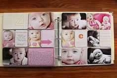 Project Life Sample: Baby for Her @ Jacqlene Project Life Planner, Project Life Baby, Project Life Freebies, Digital Project Life, Project Life Scrapbook, Project Life Album, Project Life Layouts, Project Life Cards, Project 365