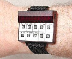 Sinclair Wrist Calculator from 1977 Cool Watches, Watches For Men, Men's Watches, Mechanical Calculator, Retro Arcade, Old Computers, Word Design, Custom Fonts, Retro Futurism