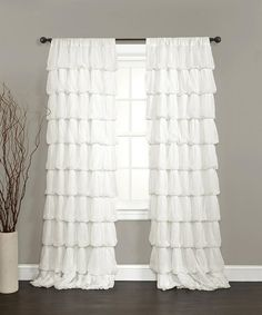 Take a look at this Off-White Olivia Curtain Panel by Lush Décor on #zulily today!