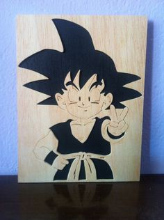 Goku Dragon ball z wooden picture scroll saw, $7.99