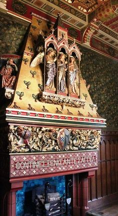 Small Dining Room Fireplace Cardiff Castle Designed by William Burges