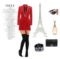 """Untitled #3"" by ieva-penkauskaite ❤ liked on Polyvore featuring Balmain, Chanel, Liliana, Merci Gustave! and Moschino"