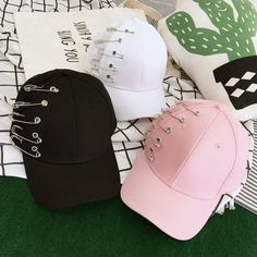 Fashion Mode, Korean Fashion, Fashion Hats, Harajuku, Stylish Caps, Cute Caps, Accesorios Casual, Cool Hats, Kawaii Clothes