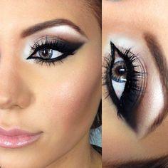 Smokey wing eye make up glamorous