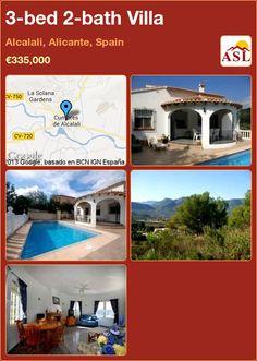 3-bed 2-bath Villa in Alcalali, Alicante, Spain ►€335,000 #PropertyForSaleInSpain