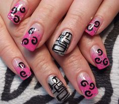 Day 9: Stamped Shapes Nail Art - - NAILS Magazine