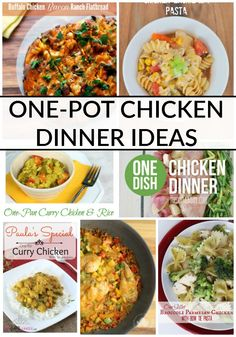 These 10 ONE POT CHICKEN DINNER IDEAS are perfect for those looking for a delicious meal and easy clean up!