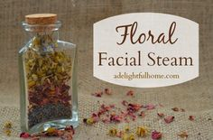 Why use a floral facial steam? Facial steams are a great way to prepare the skin for further skin treatments. A facial steam is the perfect precursor to a scrub or masks since it opens Homemade Acne Treatment, Facial Treatment, Skin Treatments, Facial Therapy, Homemade Facials, Homemade Products, Homemade Gifts, Diy Gifts, Healthy Skin Tips