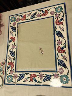 Lotus Painting, China Painting, Ceramic Painting, Turkish Tiles, Turkish Art, Book Page Art, Madhubani Art, Wood Burning Art, Handmade Tiles