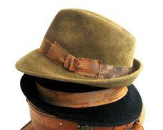 Fedora Trilby Hat- Fall Fashion- Men's hat- Women's Hat- Winter Accessories- Handmade Hat- Dress Hat For Men- Fall Accessory- Custom Hat
