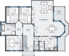 Bauen am Hang - Erdgeschoss