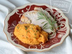 Turkey with Cauliflower Carrot Herb Mash | Once A Month Meals | Freezer Cooking | OAMC