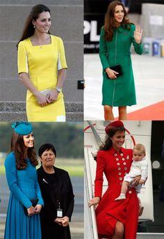 In beeld: de regenbooglooks van Kate Middleton
