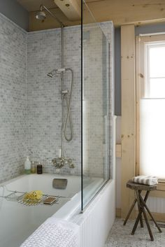Awesome Tub Alcove Framing 130 Bathtub Shower Alcove Remodeling Alcove Bathtub With Tile Flange Light wood trim. Shower Alcove, Bathtub Shower Combo, Shower Over Bath, Master Bath Shower, Bathroom Tub Shower, Glass Shower Doors, Shower Screens, Glass Doors, Master Bathroom