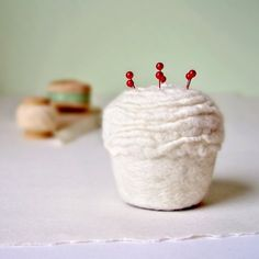 Cupcake Pin Cushion by Made in Lowell