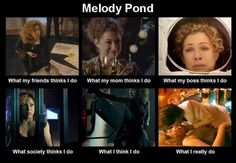 Melody Pond / River Song Hee hee - love it! Doctor Who Companions, Alex Kingston, 11th Doctor, Hello Sweetie, Torchwood, Time Lords, David Tennant, Dr Who, Superwholock