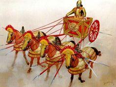 Un carro falcado del imperio seléucida. Más en www.elgrancapitan.org/foro