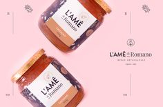 L'Ame Honey — Brand Identity & Packaging on Behance Honey Packaging, Beverage Packaging, Brand Packaging, Packaging Design, Food Packaging, Jam Jar Labels, Brand Identity, Branding, Honey Brand