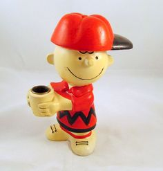 Vintage Peanuts Charlie Brown Hallmark Candle Holder