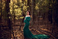 Ready to ship Scarlet Maternity DressOff Shoulders by SilkFairies
