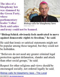 Bishop calls for blasphemy laws - Islam is not the problem, religion is   -   Pat Condell.GIF