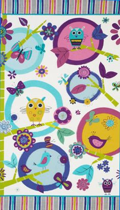 Amy Schimler for Robert Kaufman - bird panel