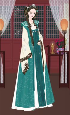 Jang Nara, Korean Hanbok, Kdrama, Chibi, Aurora Sleeping Beauty, Chinese, Asian, Traditional, Disney Princess