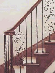 wrought iron stairs railing designs | Crown Heritage Wrought Iron