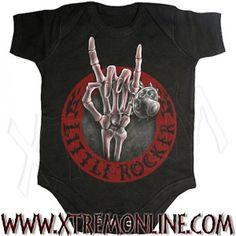 Body de bebé Little Rocker XT3665. Echa un vistazo a nuestra colección de ropa gótica y heavy metal para bebés. Artículos en stock.