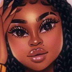 Sexy Black Art, Black Love Art, Beautiful Black Girl, Black Girl Art, Black Girls Rock, Black Girl Magic, Art Girl, Black Art Painting, Black Artwork