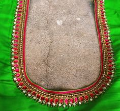 Simple Embroidery, Hand Embroidery Designs, Embroidery Blouses, Wedding Saree Blouse Designs, Saree Blouse Neck Designs, Kids Blouse Designs, Simple Blouse Designs, Magam Work Blouses, Maggam Work Designs