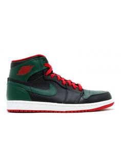 0414a7e89bbef Air Jordan 1 Retro High Black Gym Red Gorge Green Wht 332550 025
