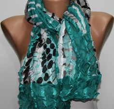 Multicolor  Shawl Scarf - by fatwoman, $19.00