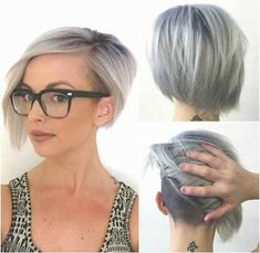 Be bold, make a statement with the shaved bob hairstyles. Women's hairstyles with a shaved patches on one side are the latest trend in hip hop and jazzy. New Hair, Your Hair, Shaved Bob, Bob With Shaved Side, Shaved Sides, Hair Colorful, Bob Haircuts For Women, Edgy Haircuts, Short Inverted Bob Haircuts