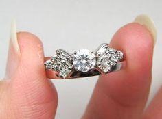 Diamond Solitaire Enhancer Ring Wrap Guard White