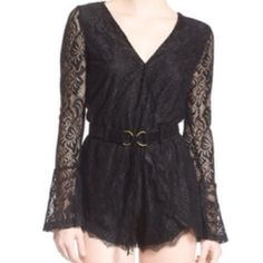 Nwt Dirty ballerina lace romper Nordstroms No flaws new No Trades please polyester spandex blend has some stretch Nordstroms Shorts