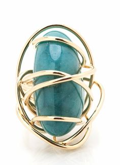 wire wrapped stone ring
