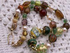 Vintage Venetian Murano glass beads necklace II by beadartaustria.
