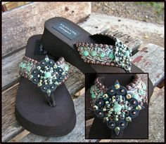bella turquesa...i can not imagine paying $174 for a pair of flip flops but that doesn't mean i can't like them...