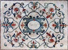 Arabesque Botanical Floor Mosaic - Kali