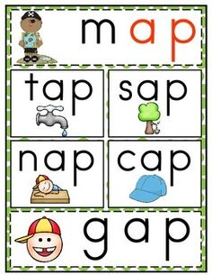 52 Ideas for family word games reading Word Family Activities, Cvc Word Families, First Grade Activities, Preschool Learning Activities, Teaching Resources, Learning English For Kids, English Worksheets For Kids, Kindergarten Art Lessons, Kindergarten Reading