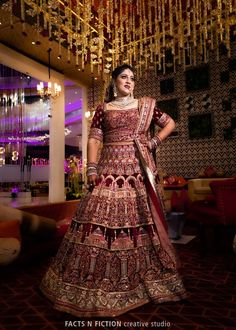 "Photo from Facts N Fiction Creative Studio ""Wedding photography"" album Indian Lehenga, Lehenga Saree, Bridal Lehenga, Saree Wedding, Sarees, Wedding Dresses, Saree Gown, Photographic Studio, Wedding Preparation"