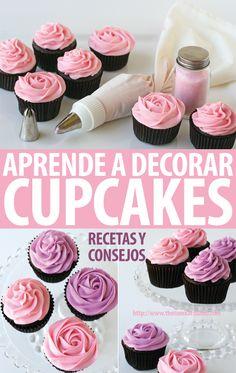 Hay muchas maneras de decorar cupcakes, ésta es una de ellas, tal vez la más común. Pero… sabés cómo se realiza? Aquí lo vas a ver….