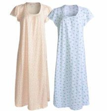 Nightgown 100% Cotton Knit Floral CAROLE HOCHMAN NWT